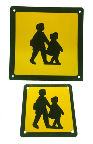 SCHOOL BUS SIGNS KIT (FRONT, REAR  c/w SUCKERS)